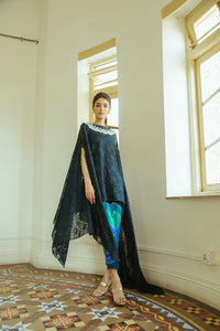 Teal Lace Kaftan