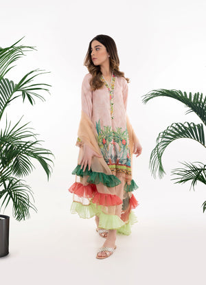 Tropical Crepe Tunic