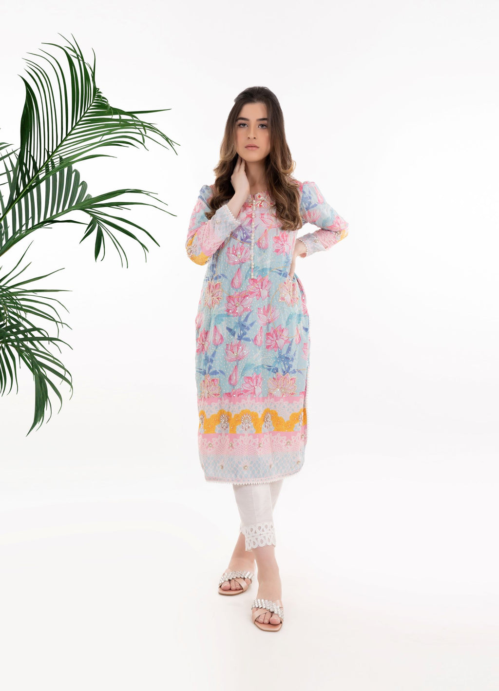 Lotus Crepe Tunic