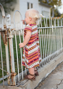 Fall Stripe T-Shirt Dress // kids
