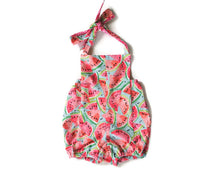 Watermelon Toddler Halter Romper