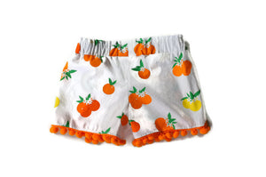 lemon and orange shorts