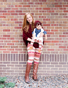 Fall Stripe Leggings // kids