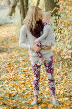mommy and me floral leggings