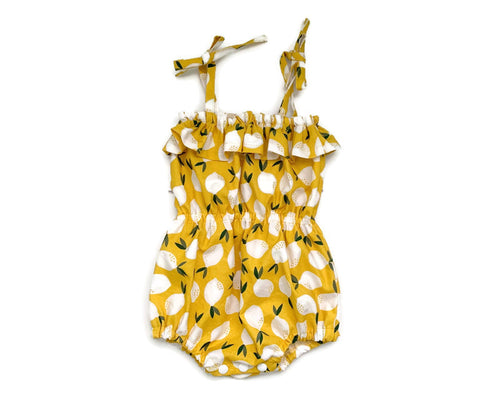 Lemon baby romper