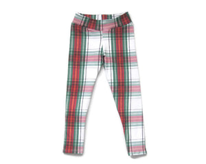 plaid christmas leggings