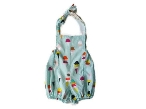 Ice Cream Toddler Halter Romper