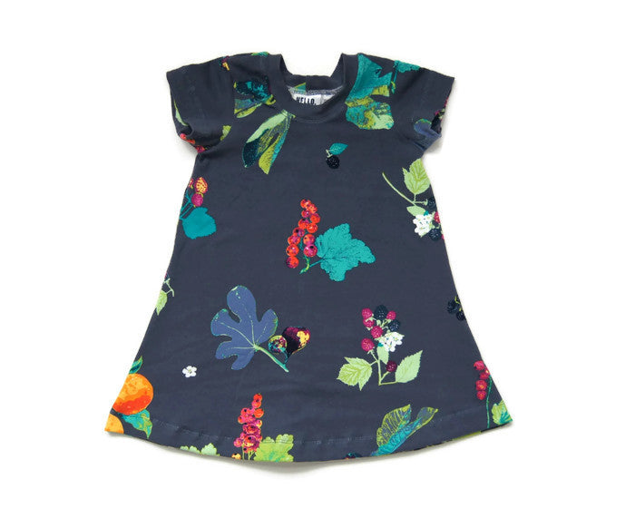 Floral Citrus T-Shirt Dress // kids