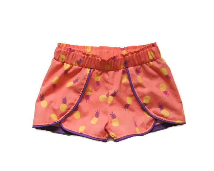 kids pineapple shorts