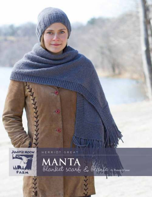 Manta Blanket Scarf & Beanie from Juniper Moon Farm