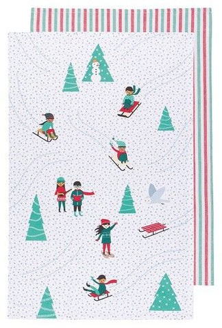 Set of Two Snow Much Fun Tea Towels