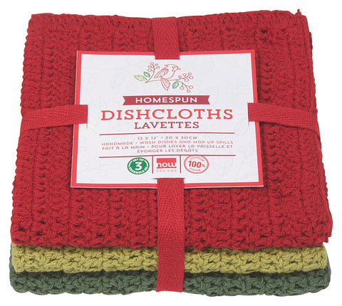 Crocheted Homespun Dishcloths