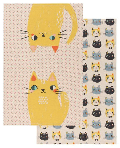Set of Two Meow Meow Tea Towels