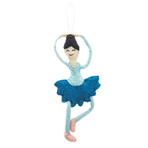 Ballerina Felted Holiday Ornament