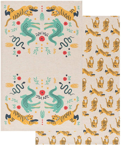 Set of Two Tea Towels - Fierce