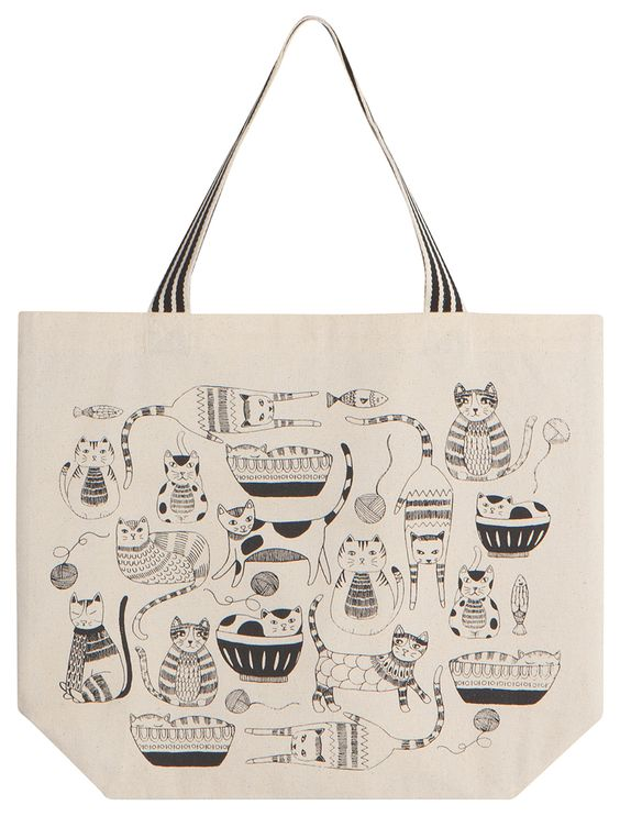 Large Tote - Purr Party