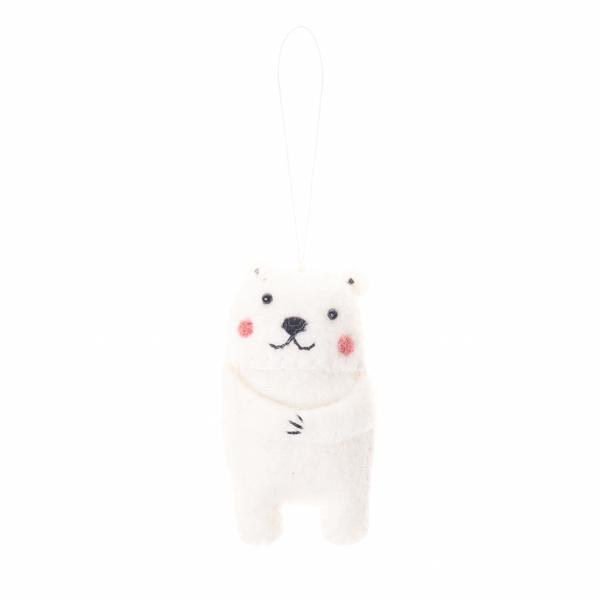 Polar Bear Holiday Ornament
