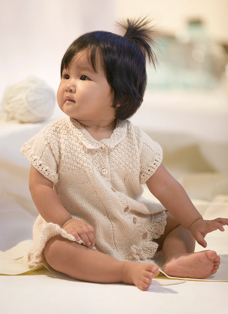 Blue Sky Fibers Alpaca Silk Pattern - Baby Dress