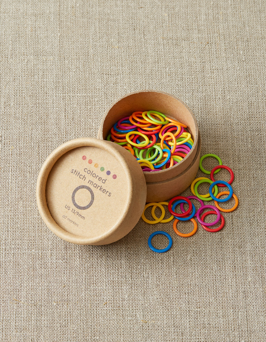 Cocoknits Colored Ring Stitch Markers - Medium