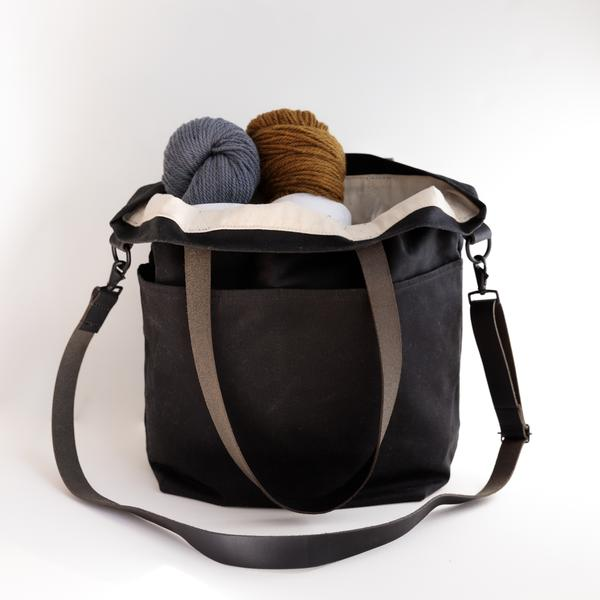 Twig & Horn Waxed Canvas Crossbody Project Tote