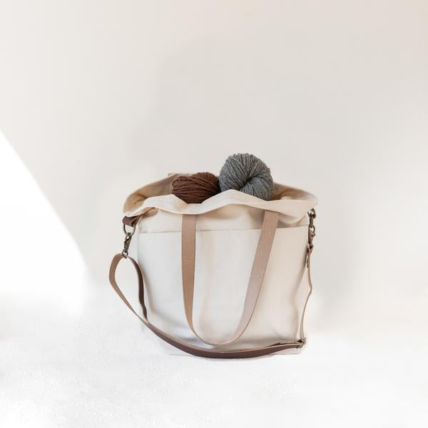 Twig & Horn Canvas Crossbody Project Tote