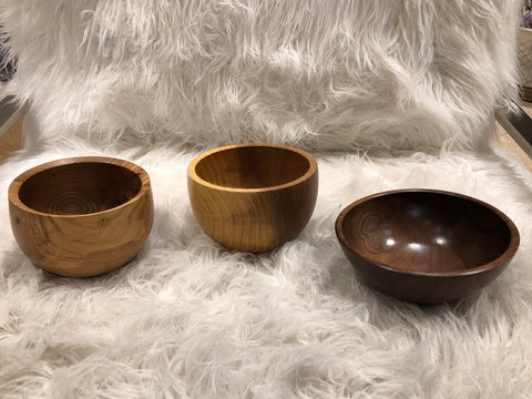 Medium Turned Wooden Bowl