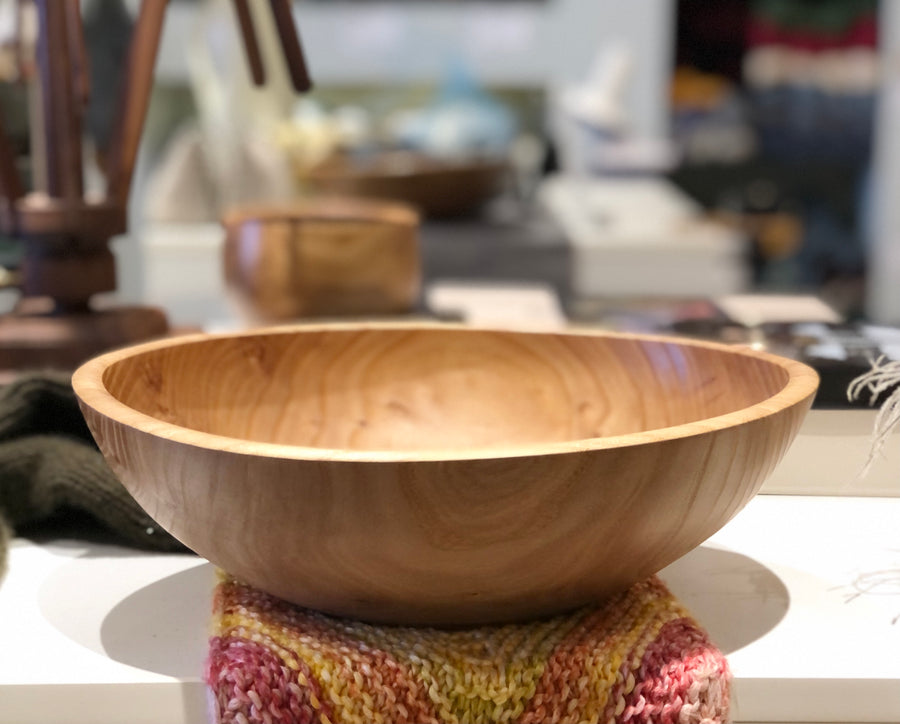 Large Turned Wooden Bowls