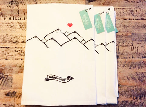 Mountain Love Tea Towel