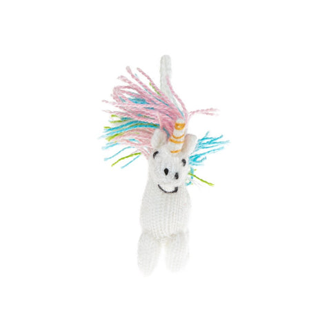 Unicorn Knitted Wool Holiday Ornament