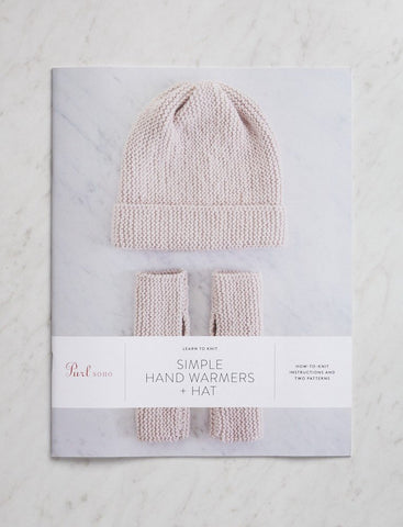 Simple Hand Warmers and Hat - How to Knit and Two Patterns