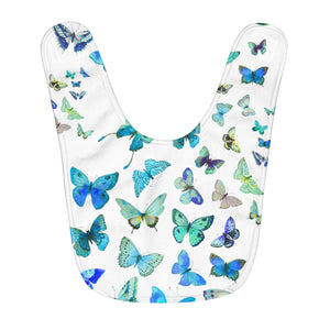 Baby Boy Blue Butterfly Fleece Baby Bib