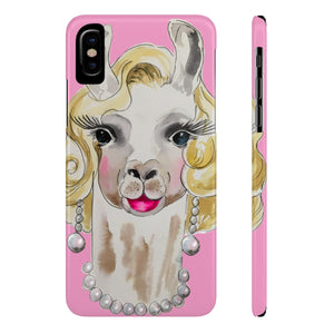 Marilyn Llama Case Mate Coral Pink Slim Phone Case