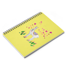 All Love Llama Yellow Spiral Notebook - Ruled Line