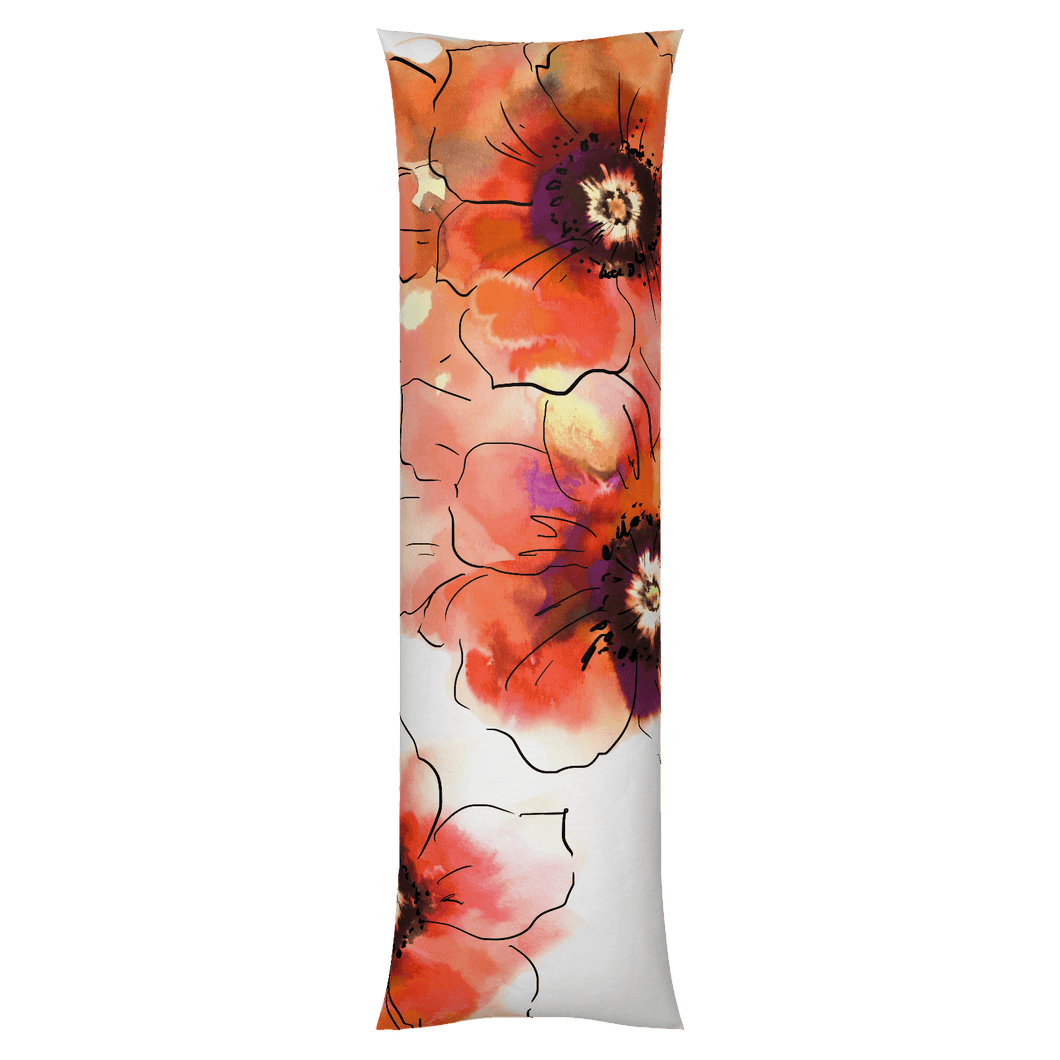 Anemone Orange Body Pillow