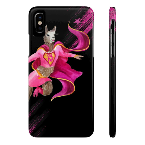 Girl Power Llama Case Mate Slim Phone Case
