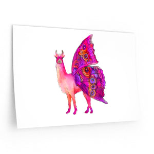 Butterfly Llama Wall Decal