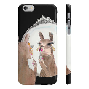 Miss Priss Llama Black Wpaps Slim Phone Case