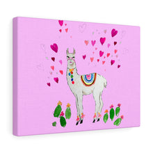 All Love Llama Pink Canvas Gallery Wraps