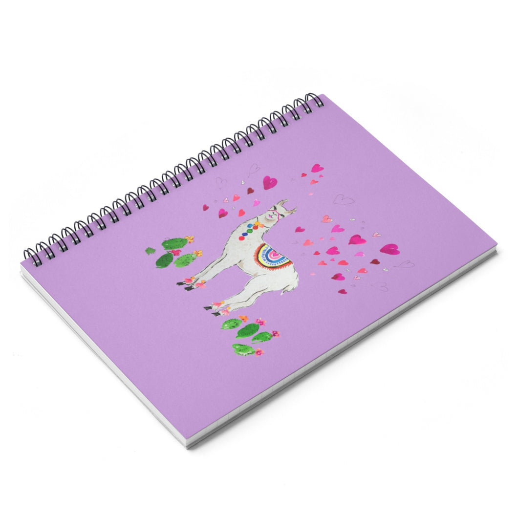 All Love Llama Lilac Spiral Notebook - Ruled Line