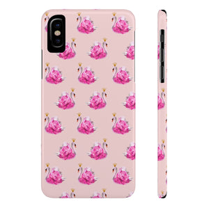 Crowned Swan Blush Case Mate Slim Phone Case