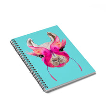 Butterfly Face Llama Spiral Notebook - Ruled Line