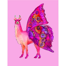 Butterfly Llama Pink Microfiber Duvet Cover