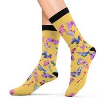 Butterfly Swarm Butter Sublimation Socks