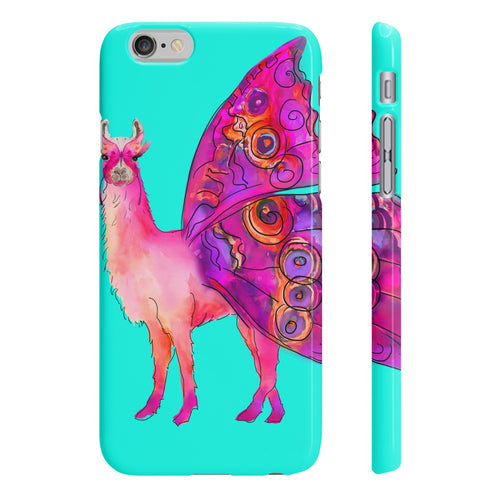 Butterfly Llama Aqua Wpaps Slim Phone Case