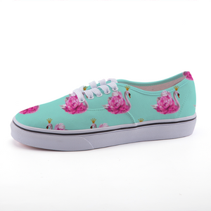 Crowned Swan Low-Top Fashion Canvas Shoes