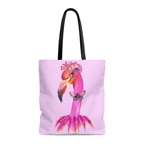 Fancy Butterfly Flamingo Pink Tote Bag