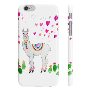 All Love Llama Slim Phone Cases