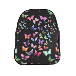 Butterfly Swarm Black School Backpack