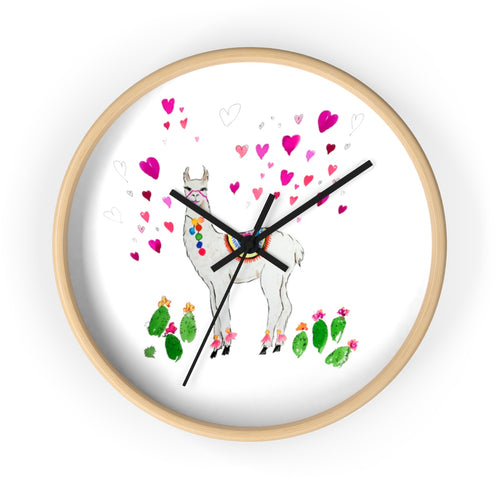 All Love Llama Wall Clock