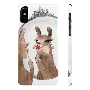 Miss Priss Llama Case Mate Slim Phone Case